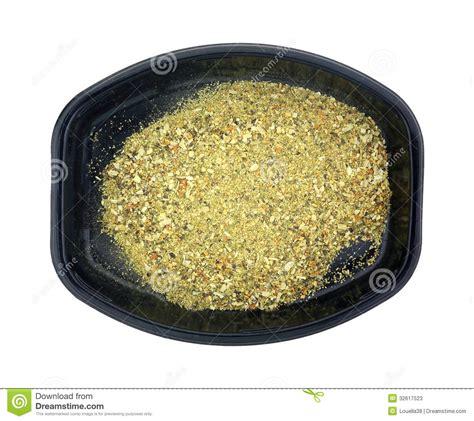Seasoning Tray by Garlic Herb Seasoning Tray Top View Stock Photos Image