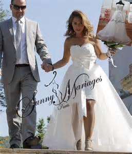 vente privã e mariage robe courte et jupe longue en tulle amovible vente en ligne mariage