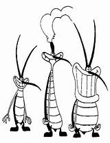 Oggy Cockroaches Coloring Pages Characters Drawing Famous Cartoon Cockroach Et Les Colouring Drawings Printable 70s Cafards Tocolor Pranks Ausmalbilder Jack sketch template