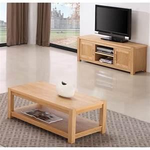 Ensemble Meuble Tv Et Table Basse : ensemble table basse meuble tv ~ Teatrodelosmanantiales.com Idées de Décoration