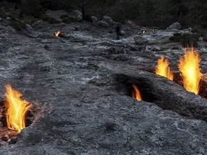Stone Burning Fire In Turkey At Olympos - Business Insider