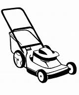 Mower Lawn Drawing Coloring Cartoon Push Pages Getdrawings sketch template