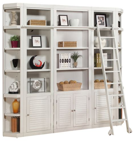 Bookcase Wall Units by Boca 5 Library Bookcase Wall Unit Cottage White