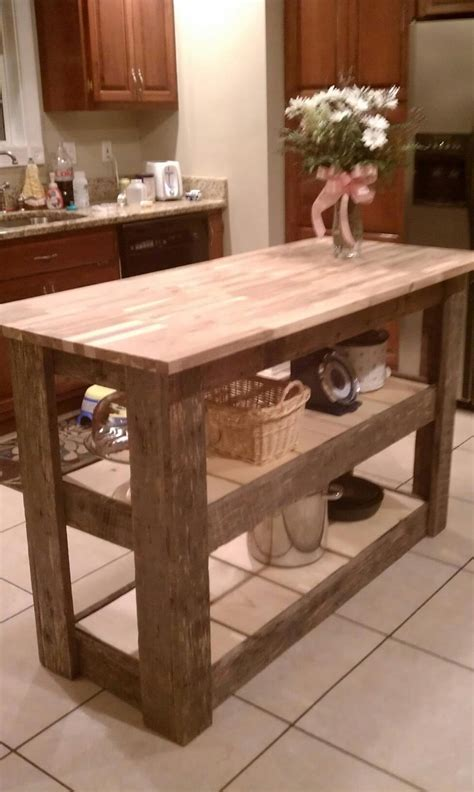 barnwood kitchen island kitchen island made from 39 upcycled 39 barn wood so purrty