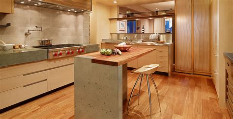 Small Kitchen Design Ideas Photo Gallery - modern concrete meets traditional cheng concrete exchange