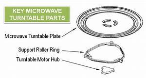 Sharp Carousel Microwave Parts Turntable
