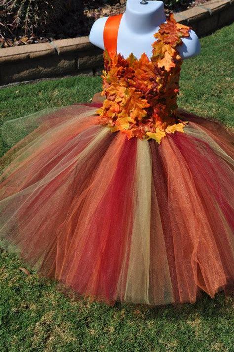 fall inspired flower girl dress leaf flower girl dress