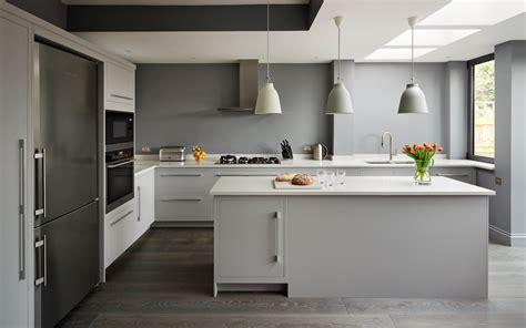 Kitchen Greysteel by Harvey Jones Linear Kitchen Painted In Dulux Steel Grey