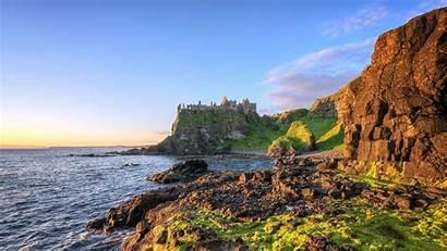 Ireland Landscape Castle Nature Cliff Coast Sea