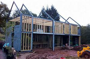 a barn style stone home homebuilding renovating With building a steel frame house