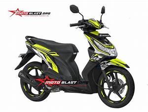 Modifikasi Striping Honda Beat Karbu Green Lime Hitech