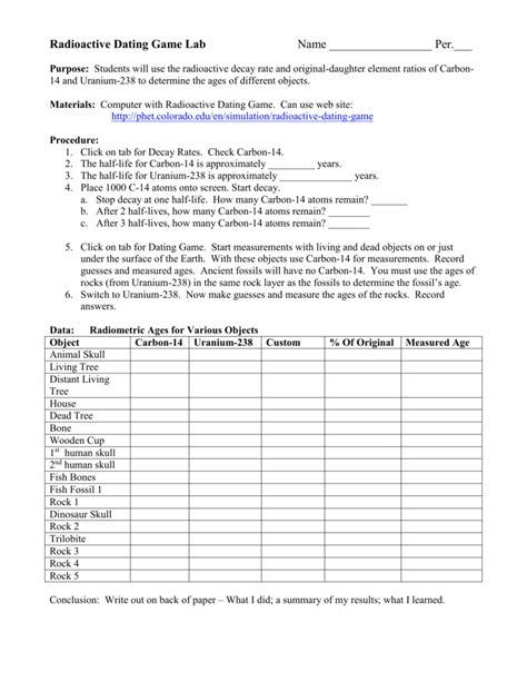 worksheet radiometric dating worksheet worksheet