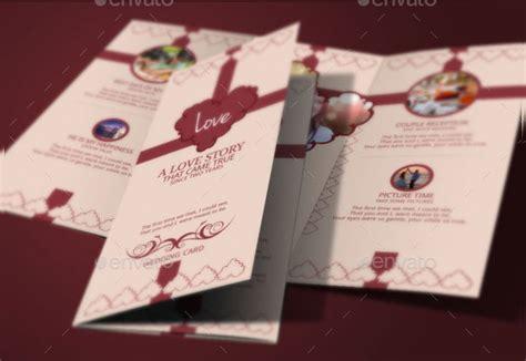 tri fold wedding invitation templates  premium
