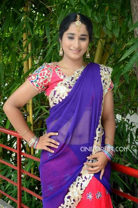 dressing below navel saree manasa half saree navel still