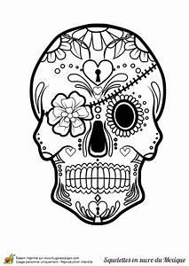 Tete De Mort Mexicaine Dessin : coloriage cr ne en sucre mexicain bandeau et fleurs ~ Melissatoandfro.com Idées de Décoration