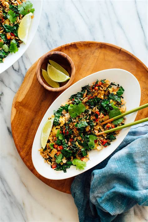 spicy kale  coconut fried rice recipe coconut fried