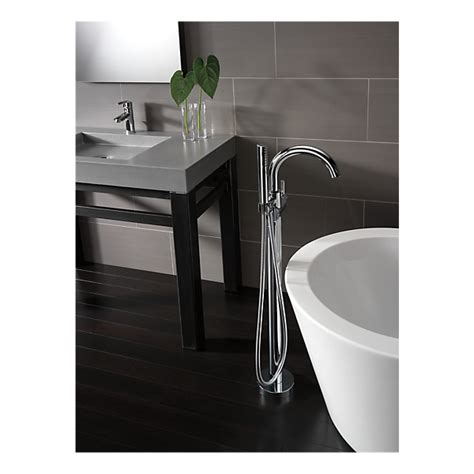t4759 fl contemporary floor mount tub filler trim