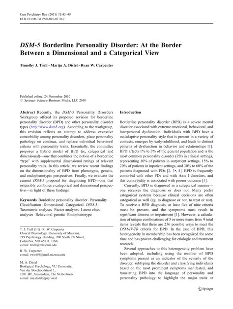 dsm  borderline personality disorder   border