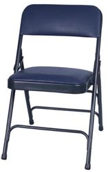 blue vinyl l folding chairs free shipping padded discount