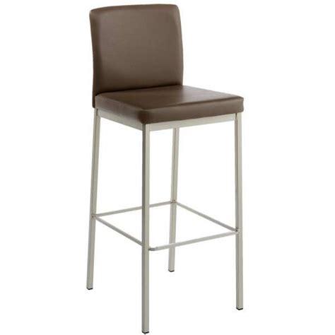 chaise de bar 4 pieds tabouret de bar de cuisine en métal et synthétique villa