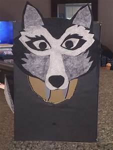 Day Card For Kids Wolf Valentines Box Made Using A Template For A Wolf