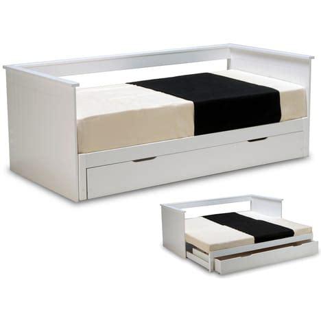 meuble de cuisine blanc laqué lit gigogne 90 x 190cm alvin pas cher à prix auchan