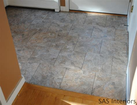 Can You Lay Vinyl Tile Linoleum by Diy How To Install Groutable Vinyl Floor Tile Burger