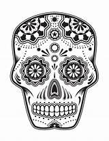 Coloring Pages Skull Sugar Halloween Adult Printable Skulls Diyacrafts sketch template