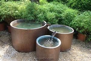 Fontaine Circuit Fermé : trio de fontaines de jardin cylindriques en cuivre et ~ Premium-room.com Idées de Décoration