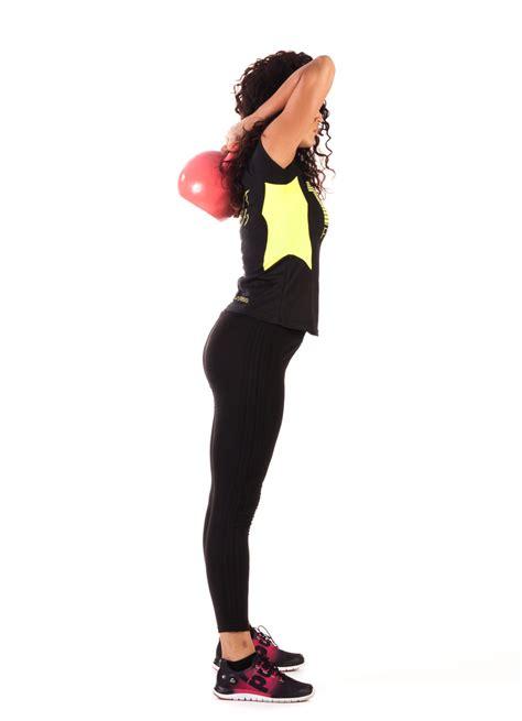 kettlebell workout female morning fitness body