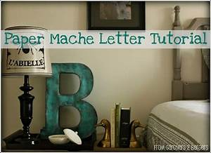 this 2 foot tall letter from a gift box and paper mache With 2 foot cardboard letters