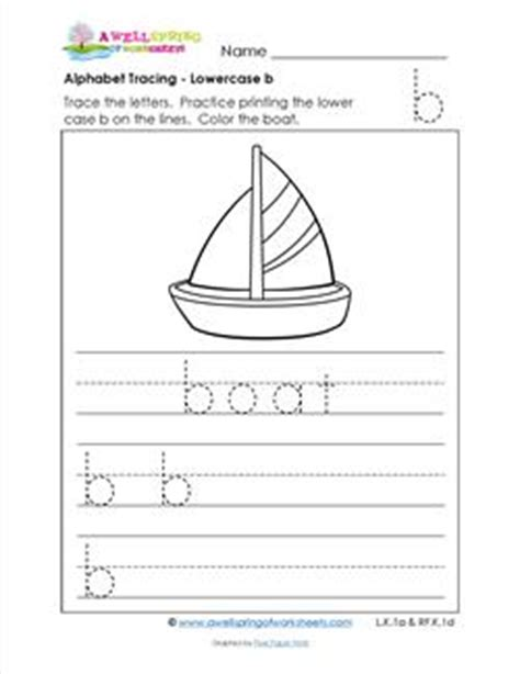 On A Boat Word Trace by Alphabet Tracing Lowercase B With A Boat