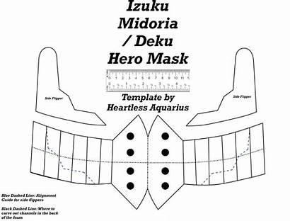 Deku Mask Template Izuku Cosplay Pattern Diy