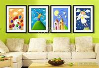 art for kids rooms decorative painting kids room Wall Art picture snow white ...