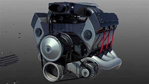 The V8 Engine - Engine Assembly Animation