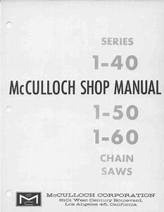 Mcculloch Vintage Chainsaw Workshop Downloadable Pdf