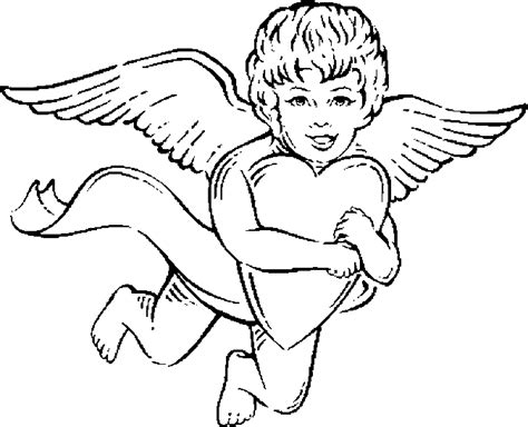 Kleurplaat Cupido by Cupid Holding Coloring Page Color Book