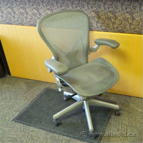 herman miller aeron lt grey all mesh ergonomic task chair