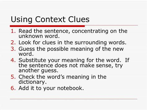 Context Clues Pages Ppt Video Online Download