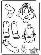Puppet Bob Builder Coloring Pull Paper Puppets Trekpop Funnycoloring Bobs Colouring Dolls Bouwer Para Doll Craft Cuerpo Kreativitet Activities Sheets sketch template