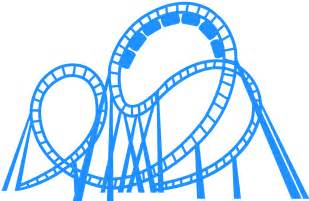 roller coaster silhouette  vector silhouettes