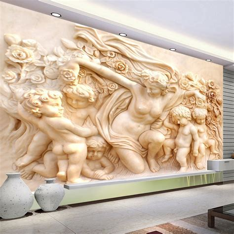 european style religious sculpture wall mural custom