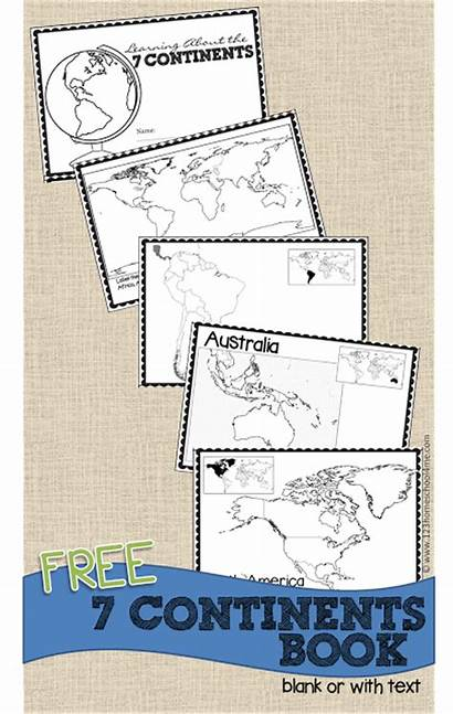 Continents Grade Printable Map Blank 1st Kindergarten