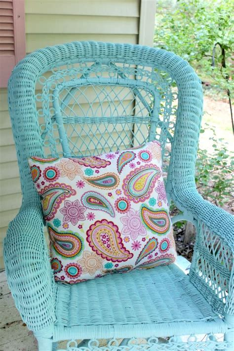 25 best ideas about painted wicker on