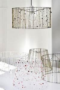 Lampenschirme Für Tischlampen : lampenschirm f r stehlampe selber machen mit ketten und perlen verziert lampen kreative ~ Whattoseeinmadrid.com Haus und Dekorationen
