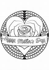 Coloring Mothers Mother Simple Children sketch template