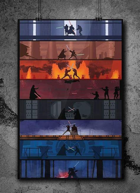 Looking for the best star wars movie poster wallpaper? Star wars poster. Light saber battles of all the generations. | Star wars art, Star wars light ...