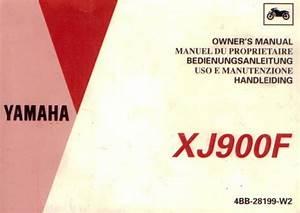 Yamaha Xj 900 F Owner U0026 39 S Manual
