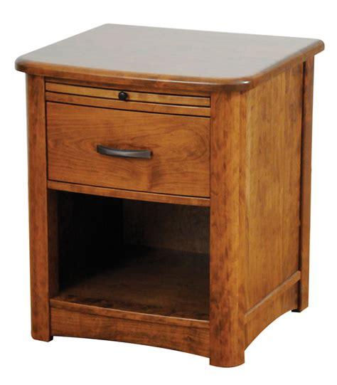 Open Nightstand by Meridian 1 Drawer Open Nightstand Ohio Hardwood Furniture