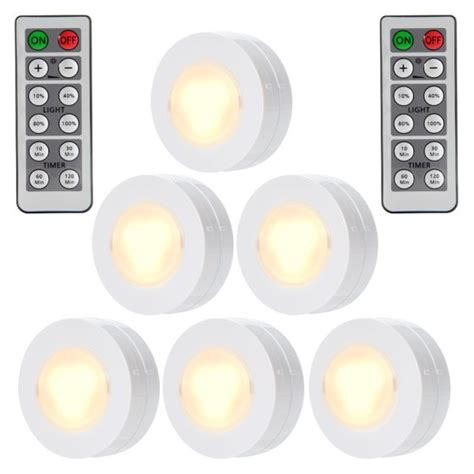 dimmable led cabinet lighting kitchen wireless led puck lights with remote battery